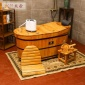 厂家直供 香柏木桑拿熏蒸木桶成人泡澡洗澡沐浴木质浴缸家用