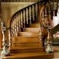 定制红橡楼梯立柱扶手 家用楼梯护栏 实木立柱扶手  实木楼梯