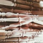 实木楼梯立柱别墅楼梯扶手厂家直销实木楼梯立柱扶手可烤漆定制