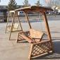 户外秋千双人吊椅室外摇篮椅吊篮庭院阳台单人摇椅防腐木